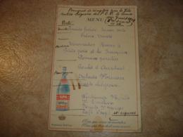 ANCIEN MENU - LIEGE 1939 - BANQUET FEDERATION LIEGEOISE P.O.B. PARTI SOCIALISTE ( PUBLICITE SPA MONOPOLE ) - Menus