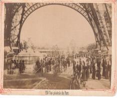 PARIS - EXPOSITION UNIVERSELLE 1889 - VUE GENERALE DU PARC - PHOTO COLLEE SUR UNE CARTONETTE - Exhibitions