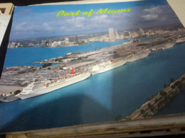 BATEAUX - PORT OF MIAMI - CRUISE SHIP -NAVE  PÂQUEBOT  N1990 HG1303 Formato XXL - Paquebots
