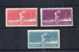 Uruguay - 1924 - Vittoria Alle Olimpiadi Di Parigi - 3 Valori - Nuovi - Leggera Traccia Di Linguella * -  (FDC17931) - Uruguay