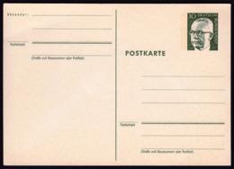 Germany 1970 Gustav Heinemann Postal Stationery Postcard Postkarte / Green 30 Pf - [7] République Fédérale