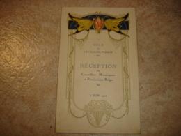 A VOIR !! TRES BEAU MENU ART NOUVEAU ( PAPILLON ) - LEVALLOIS PERRET 1922 - RECEPTION CONSEILLERS BELGES - Menus