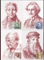 Moldova 2019 Louis Braille - Albert Einstein - Mahatma Gandhi - Leonardo Da Vinci 4Maxicards - Moldova