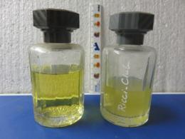 2 Grands Flacon Vide Ricci Ricci Rayures Jaunes Nom Ecrit Ou Pas Sur Le Flacon - Bottles (empty)