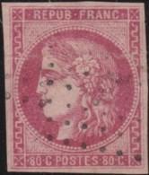 France    .    Yvert  .    49    (2 Scans)  Petit Endroit Aminci      .   O   .    Oblitéré - 1870 Emission De Bordeaux