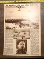 1932 1933 M RAID DES AILES ITALIENNES ITALO BALBO HYDRAVION ORTOBELLO AVIATEUR - Old Paper