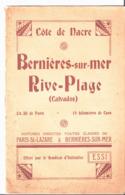 Côte De Nacre. Bernières Sur Mer. Rive Plage. Dépliant Offert Par Le Syndicat D'Initiative. - Toeristische Brochures