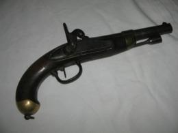 Ancienne PISTOLET DE CAVALERIE MODÈLE 1822 T BIS, Mécanisme Fonctionne - Militaria