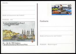 Germany 1992 / Philatelic Exhibition CONFLUENTES Koblenz / Postal Stationery 60 Pf - [7] République Fédérale