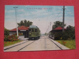C. M E  R.R. Depot Wisconsin > Racine  Ref 3690 - Racine