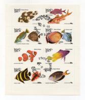 """OMAN - 1974 - Foglietto Da 8 Valori Tematica """" PESCI """" - Usati - (FDC17936) - Oman"""