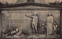 BELGIQUE , Cpa BLANKENBERGHE , Bas Relief Du Monument Lippens Et De Bruyne (11288) - Blankenberge