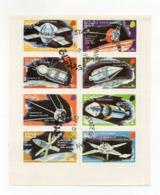 """OMAN - 1974 - Foglietto Da 8 Valori Tematica """" SPAZIO """" - Usati - (FDC17937) - Oman"""