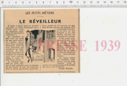 Petits Métiers De Paris Le Réveilleur Thème Réveil-matin Ancien Réveille Les Ouvriers 226MK - Vecchi Documenti