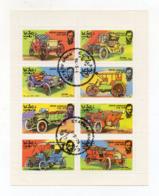 """OMAN - 1976 - Foglietto Da 8 Valori Tematica """" AUTOMOBILI """" - Usati - (FDC17939) - Oman"""