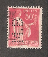 Perforé/perfin/lochung France No 283 M.B Sté Des Mines De Houille De Blanzy - Perforadas