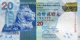 HONG KONG 20 DOLLARS 2012 P-212b UNC [HK212b] - Hong Kong