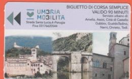 ITALIA - ITALY - ITALIE - 2019 - Umbria Mobilità - Assisi-Gubbio-Orvieto-Todi - Biglietto Di Corsa Semplice - Used - Europa