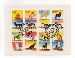 """OMAN - 1972 - Foglietto Da 8 Valori Tematica """" CANI E GATTI """" - Usati - (FDC17943) - Oman"""