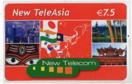 FRANCE CARTE Prépayée NEW TELECOM NEW TELEASIA - Andere Voorafbetaalde Kaarten