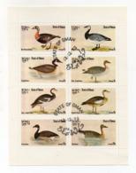 """OMAN - 1972 - Foglietto Da 8 Valori Tematica """" UCCELLI - ANATRE """" - Usati - (FDC17944) - Oman"""