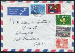 1959 Switzerland Airmail Cover Fribourg - Northern Rhodesia - Switzerland