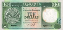 HONG KONG 10 DOLLARS 1992 P-191c UNC [HK191c] - Hong Kong