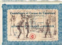 Titre Ancien - Caoutchoucs Et Cacaos Du Cameroun - Société Anonyme - Titre De 1926 - Déco - Afrique
