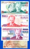 Turquie  4  Billets - Turkije