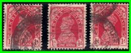 INDIA 3 SELLOS USADOS AÑO 1937-40 KING GEORGE VI - Italien
