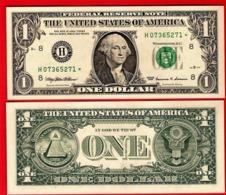 STAR NOTE USA $1 Dollar Bill 1999 - ST LOUIS, Crisp, Uncirculated - Biljetten Van De  Federal Reserve (1928-...)