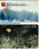 ALBANIA - Winter Landscape, Albtelecom Telecard 50 Units, 12/01, Used - Albania