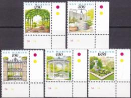 San Marino, 1994, 1570/74,  MNH **,  Der Garten. - Saint-Marin