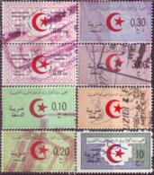 Algérie - Lot De 8 Timbres Fiscaux Usagés. - Algerien (1962-...)