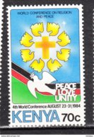 ##21, Kenya, Religion, Amour, Paix, Colombe, Dove, Olivier, Croix, Cross, Love, Peace - Kenya (1963-...)