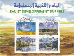 """Algérie - Bloc Oblitéré - Eau Et Développement Durable.""""ZARAGOZA 2008"""" - Algerien (1962-...)"""