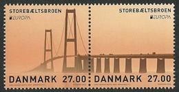 "DINAMARCA /DENMARK /DÄNEMARK  -EUROPA 2018 -""PUENTES.- BRIDGES - BRÜCKEN - PONTS"".- SELLOS Del BLOCK - AGOTADA En ORIGEN - 2018"