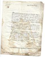 """Lettre Du 20 Octobre 1789 Du Comte De St-Priest à Mr. Amelot De Chaillou Transmition De Décrets..."""" - 4 Pages - TB - Historical Documents"""
