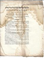 """Délibération De La Société Des Amis De La Constitution...24 Février 1791"""" - 4 Pages - TB - Historical Documents"""