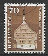 SVIZZERA -1967  EDIFICI STORICI  SERIE ORDINARIA UNIF. 795 USATO VF - Usati