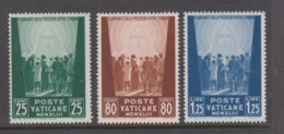 Vatican City S 84-86 1944 Pro War Prisoner,dated 1943,mint Hinged - Unused Stamps