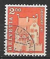 SVIZZERA -1967  EDIFICI STORICI  SERIE ORDINARIA UNIF. 796 USATO VF - Usati