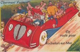 Rochefort-sur-Mer France, Fold-out Multi-views 'En Route Pour Rochefort-sur-Mer' C1930s Vintage Postcard - Rochefort