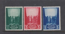 Vatican City S 99-101 1945 Pro War Prisoner,dated 1944,mint Hinged - Unused Stamps