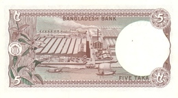 BANGLADESH P. 25a 5 T 1981 UNC - Bangladesch