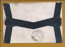 Registered Letter Lisbon To 1911. Stamp 100 Réis D. Manuel II. Obliteration Guarda. Torn. Mourning. Lacre. Rasgo. 2sc - 1910-... République