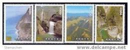 Taiwan 1989 Taroko National Park Stamps Mount Gorge Falls Geology Waterfall Taiwan Scenery - 1945-... Republic Of China