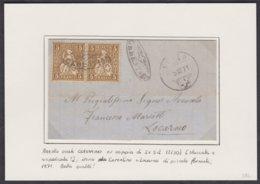 TI  STRAHLENSTEMPEL CERENTINO - CEVIO - LOCARNO AUF SUPER BRIEFLEIN - 1862-1881 Sitzende Helvetia (gezähnt)
