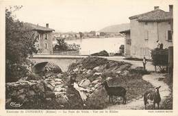 "/ CPA FRANCE 69 ""Environs De Condrieu, Le Pont De Vérin, Vue Sur Le Rhône"" / CHEVRE - Condrieu"