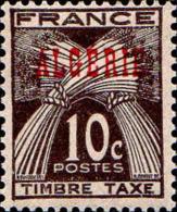 Algérie Taxe N** Yv:33/34 Epis De Blé Surch Algérie - Algeria (1924-1962)